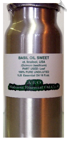 Basil Essential Oil, sweet ct. linalool, USA