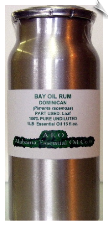 Bay Essential Oil, (Rum), Dominican