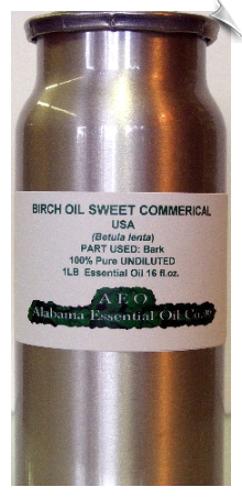 Birch Essential Oil, Sweet, Commerical