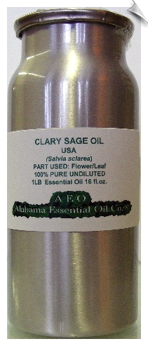 Clary Sage Essential Oil, High Sclareol, USA