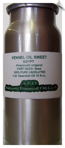 Fennel Essential Oil, Sweet | Alabama Essential Oil Company