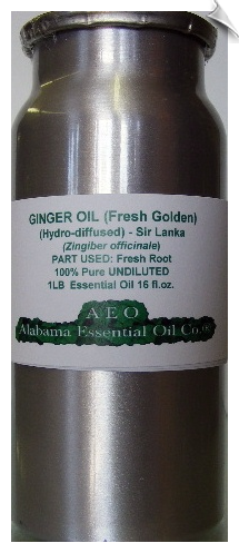 Ginger Essential Oil, Fresh Golden, Hydro-diffused, Sir Lanka