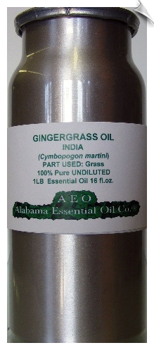 Gingergrass Essential Oil, India