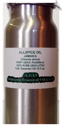 Allspice Essential Oil, (Pimenta Berry), Jamaica