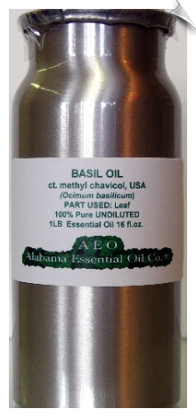 Basil Essential Oil, ct. methyl chavicol, USA