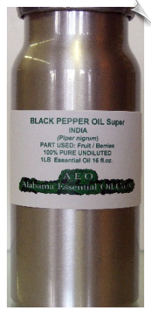 Black Pepper Essential Oil, Super, India